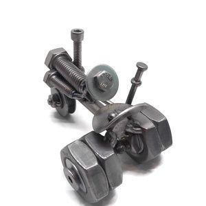 Metal Relic Accents Scrap Metal Art Dual Wheeled Tractor Figurine Poshmark